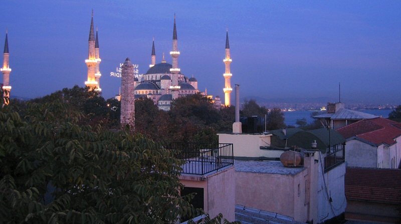 Istanbul view from Hotel Fehmi Bey first night