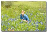 Brenda in the bluebonnets