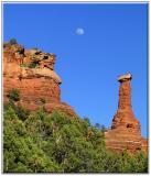 Moon Rising over Kachina Woman