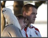 Couple with bird
