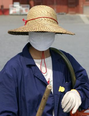 Cleaner at the Forbidden City
