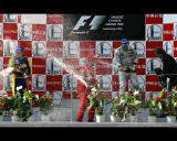 The winners of the Chinese Grand Prix