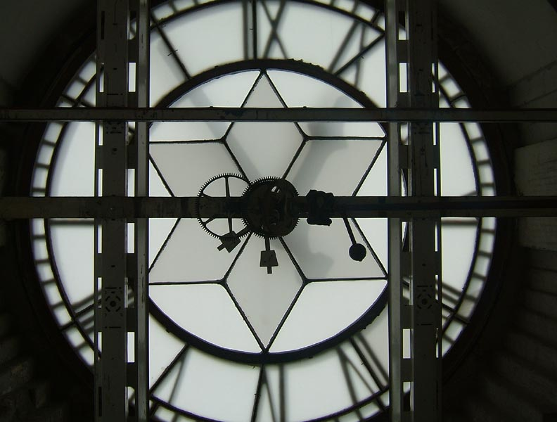 Inside the Town Clock Face
