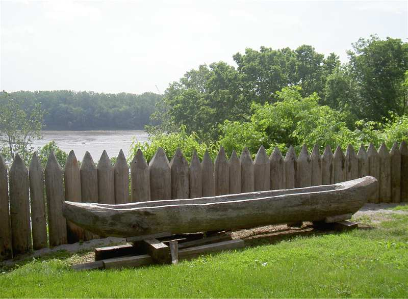 Dugout Canoe over looking Missouri River