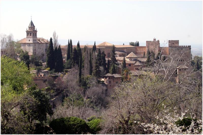 la alhambra from generalife