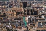 granada cathedral from la alhambra