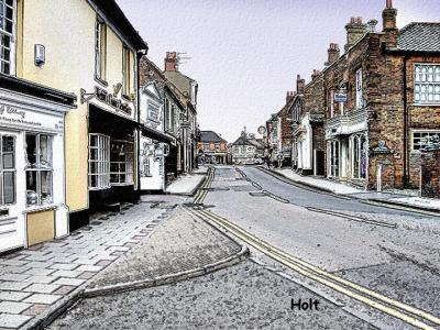 Holt Town, Norfolk ,UK