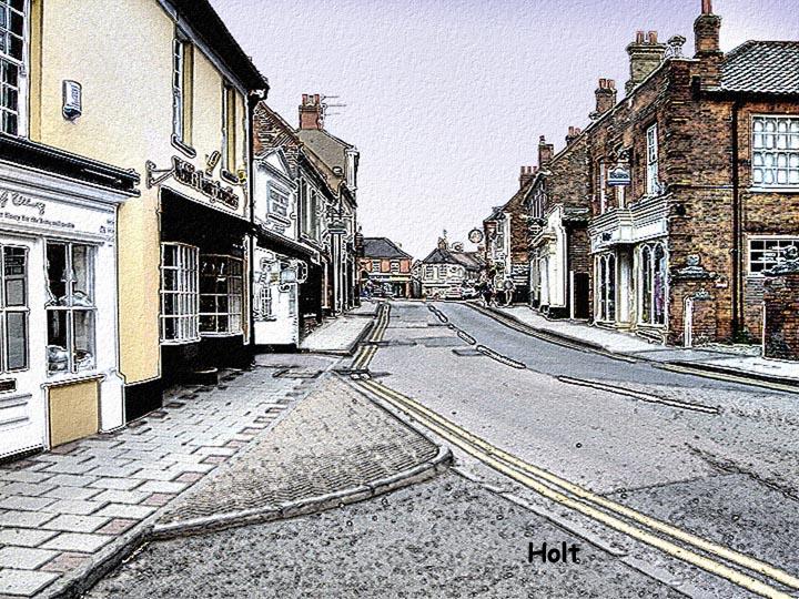 Holt Town, Norfolk ,UK