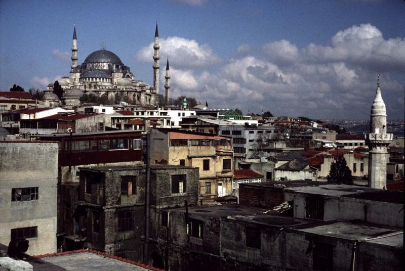 Istanbul Suleymaniye Mosque wide 1