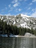 Twin Lakes and Snow Capped Peak
