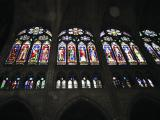 Stained glass windows in the nave