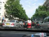 Traffic on the Blvd. St. Germain
