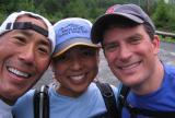 Glenn, Jenny & Charlie just before starting