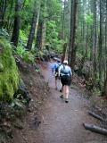 Climbing up Rattlesnake Ledge Trail