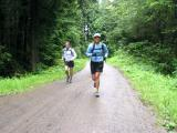 Jenny & Charlie running up Road 7000
