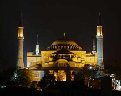 Aya Sofya at Night
