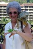 DSC01706 - Vicki with Iguana and lizard