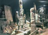 A display of New Guinea artefacts