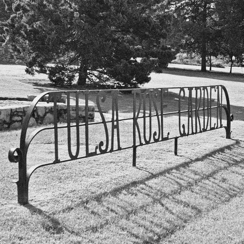 Tulsa Rose Garden Sign - Square