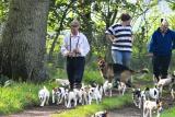 Eddie Chapman with his terriers