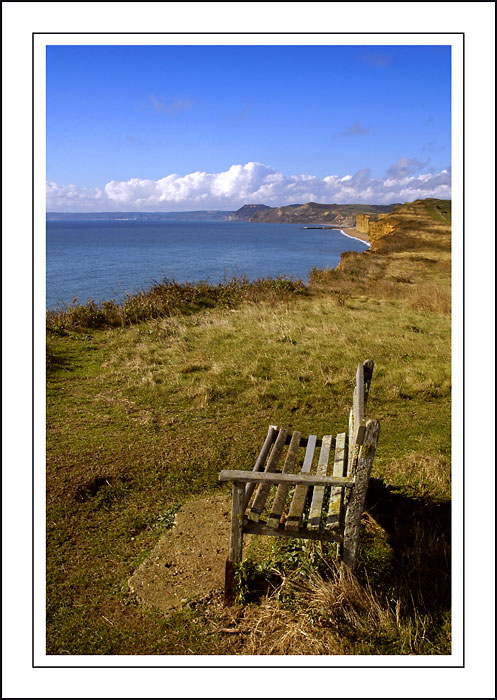 A welcome rest, Hive beach, West Dorset