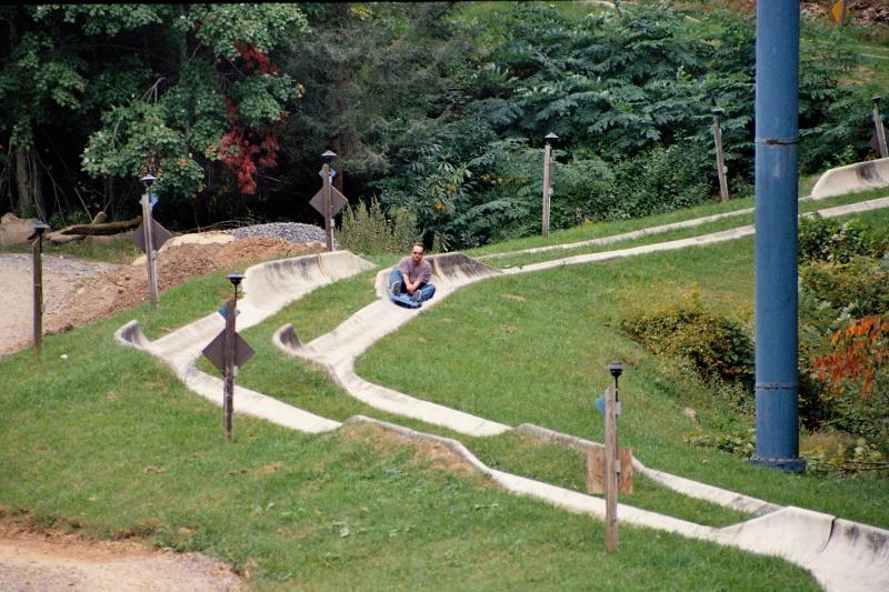 Chris on the bobsled