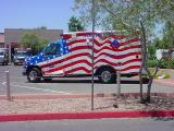 red white and blueambulance in Mesa