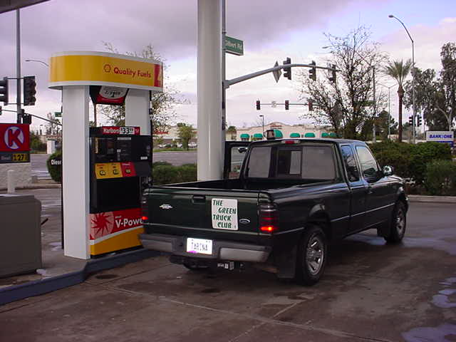getting gas at Shell 0k