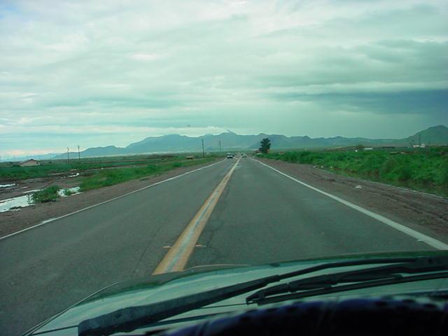 north on Gilbert road