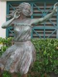 Hula Dancer at the Aloha Tower in Hawaii