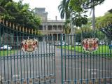Iolani Palace with gates