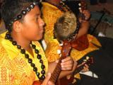 Kids playing Hawaiian music