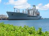 Ship at USS Arizonia Memorial Site