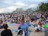 Sunday night, Sunset on the Beach crowd