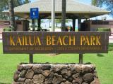 Kailua Beach Park Sign