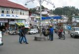 One of the main squares in Mussorie
