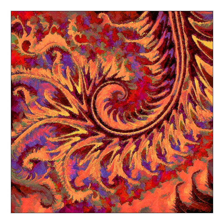 Feather In Red And Gold