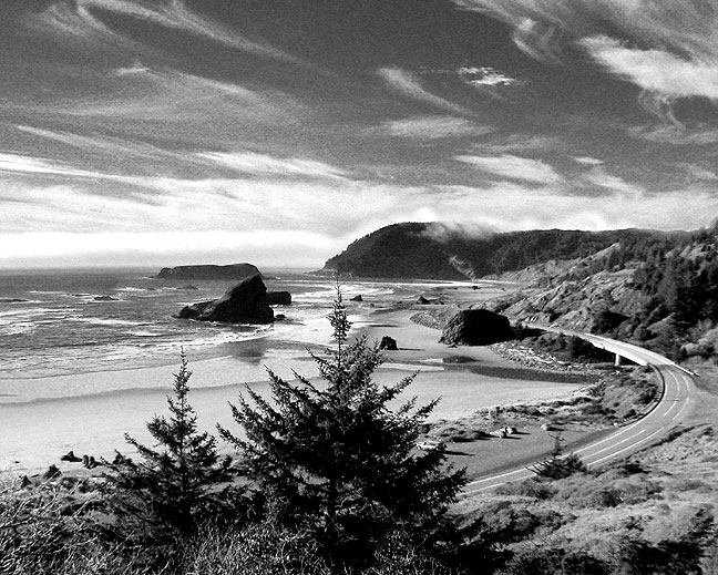 Meyers Creek Beach, From Above The Coast Highway