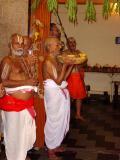 (foreground) Sri Ahobila Mutt Srikaryam Swami,  (center) Ashramam Srikaryam Swami