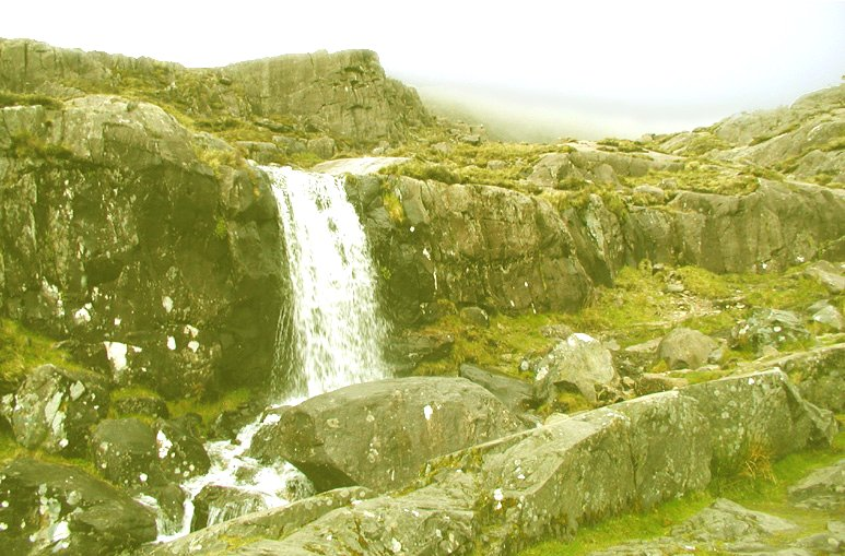 Waterfall near the top of the Conor Pass