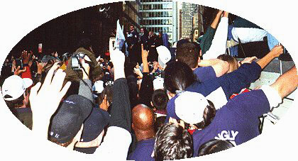 1996 ticker tape parade for Yankees