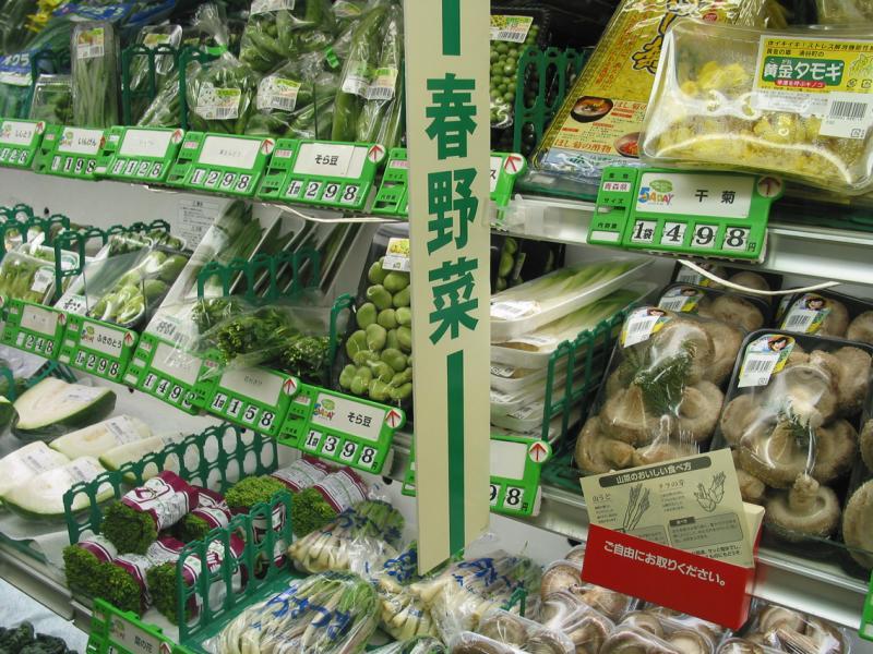Mushrooms in the market