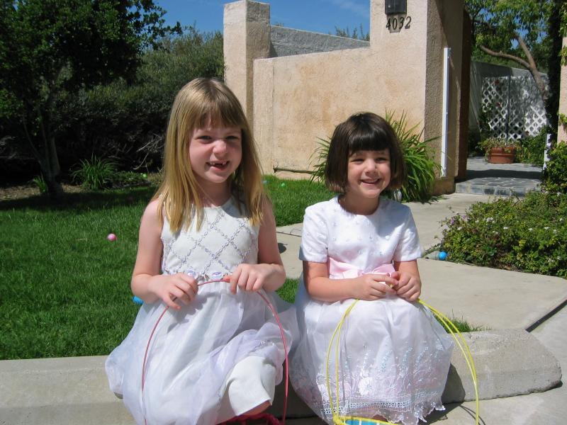Seta & Sidra  Easter 04