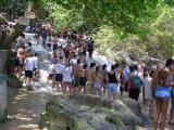 Climbing the Falls with the Crowd