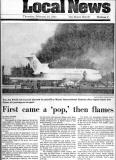 1982 - The Miami Herald - Pan Am B727-235 N4734 Clipper Charmer engine fire on takeoff roll