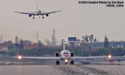 American Airlines MD-82 and B757-223 N659AA aviation stock photo #9536