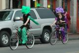 The easiest mode of transport on Mardi Gras