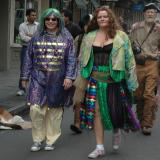 Costumes with Mardi Gras spirit