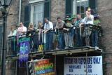 Balcony space is much desired on Mardi Gras