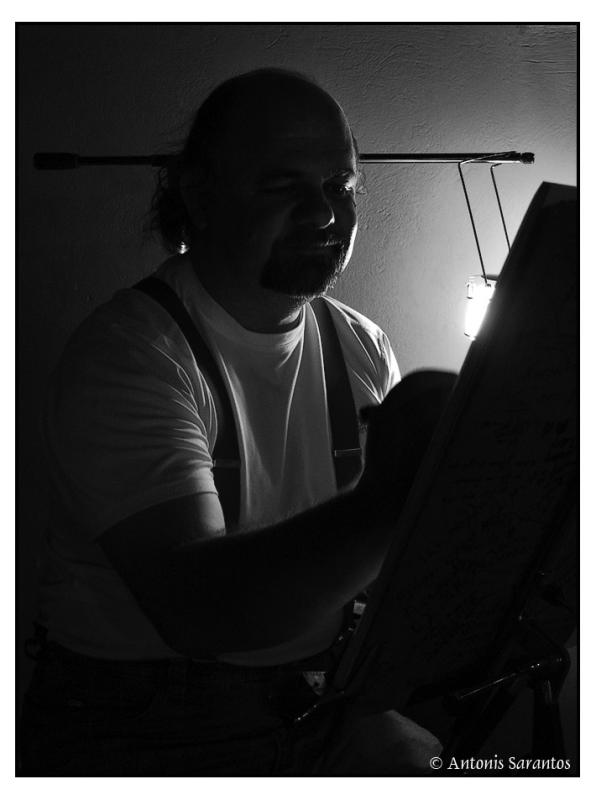 18 Feb 2005 Night portrait of a wandering painter